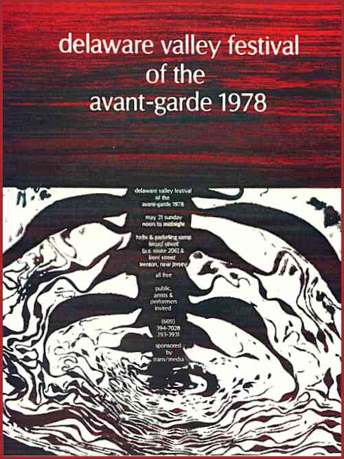 Delaware Valley Festival of the Avant-Garde 1978 Poster Clip